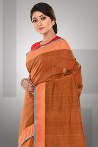 Khadi Silk Sari - Brown