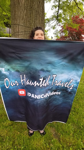 """Our Haunted Travels"" Blanket"