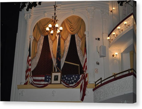 Presidential Box - Ford's Theater - Canvas Print