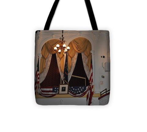 Presidential Box - Ford's Theater - Tote Bag