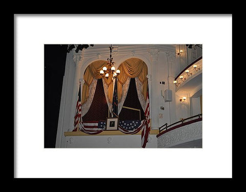 Presidential Box - Ford's Theater - Framed Print