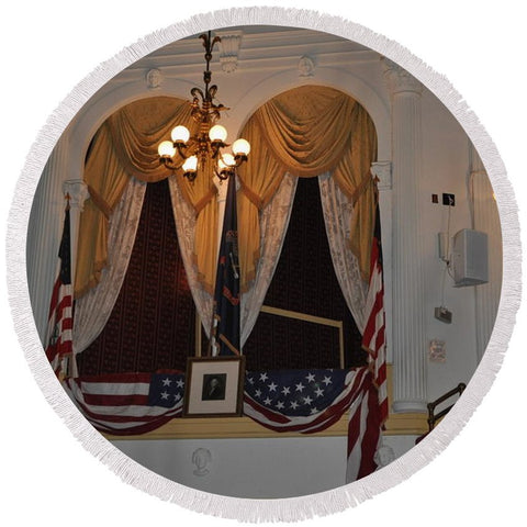 Presidential Box - Ford's Theater - Round Beach Towel