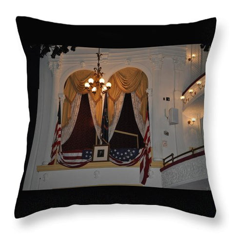 Presidential Box - Ford's Theater - Throw Pillow