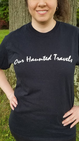 """Our Haunted Travels"" Logo T-Shirt"