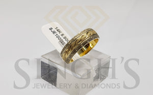 Wedding Band ( White & Yellow Gold ) - Singh's Jewellery & Diamonds