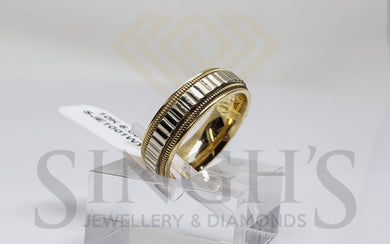 Wedding Band ( White & Yellow Gold) - Singh's Jewellery & Diamonds