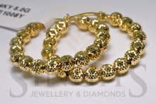 Load image into Gallery viewer, Fancy Diamond Cut Hoop Earrings (14k Yellow Gold) - Singh's Jewellery & Diamonds