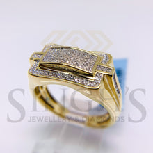 Load image into Gallery viewer, Micro Pave Diamond Mens Ring (10K Yellow Gold) - Singh's Jewellery & Diamonds