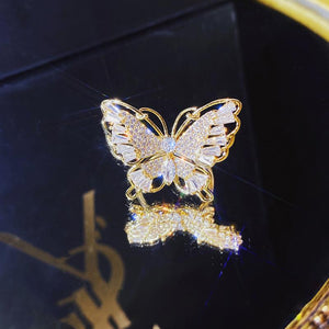 Diana's Bling Butterfly Ring