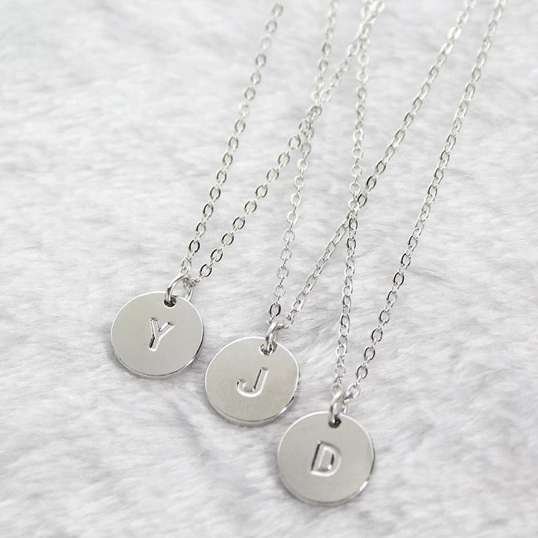My Round Initial Necklace