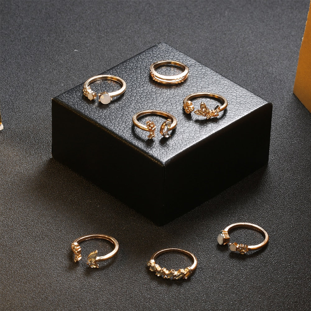 Elle's Boho Ring Set