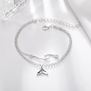 Alexa's Whale Tail Anklets Set