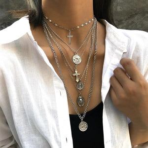 Abby's Cross Necklace Set