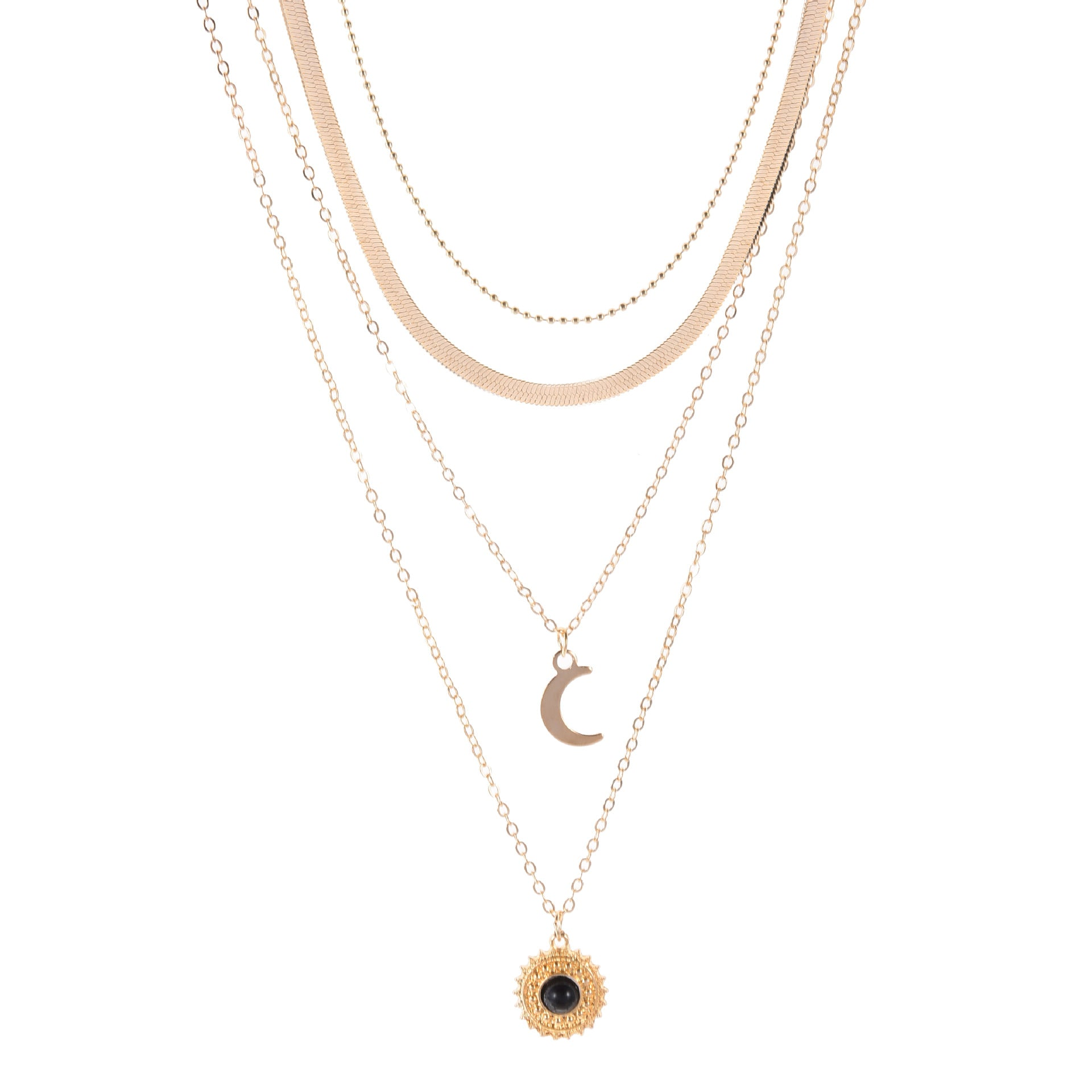 Tracy's Moon Layered Necklace