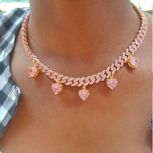 Gaia's Bling Hearts Necklace