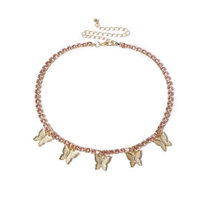 Mia's Butterfly Choker Necklace