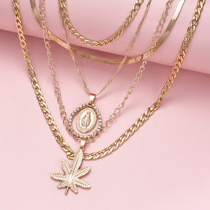 Gloria's Leaf Necklace Set