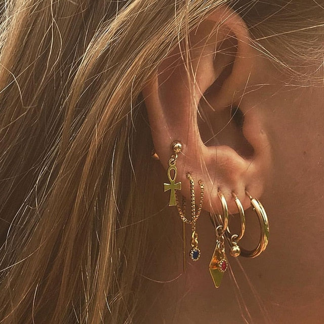 Stephanie's Hoop Earrings Set