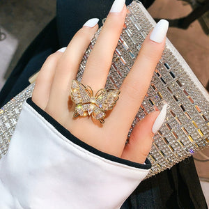Phoebe's Bling Butterfly Ring