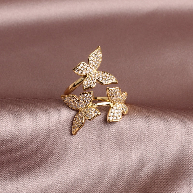 Sally's Gold Butterfly Ring