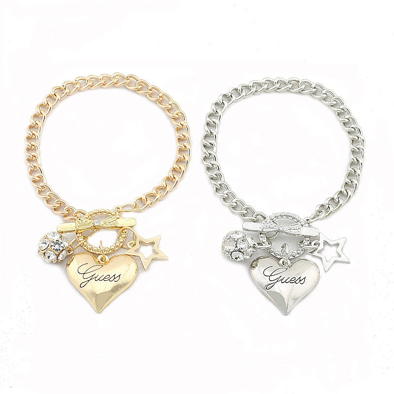 Gold Solid Heart Bracelet