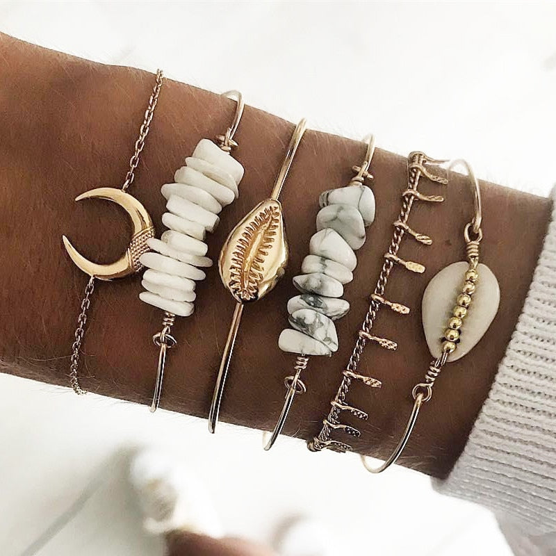 Ocean Moonlight Bracelet Set