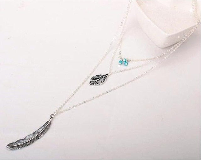 Chain Feather Necklaces