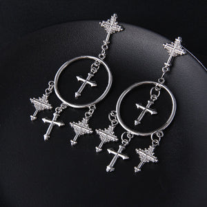 Cross Chandelier Earrings