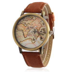 My World Map Wristwatch
