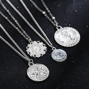Carved Coins Necklaces