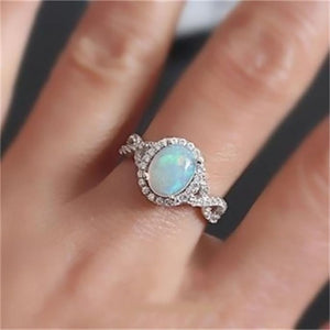 Moonstone Crystal Ring