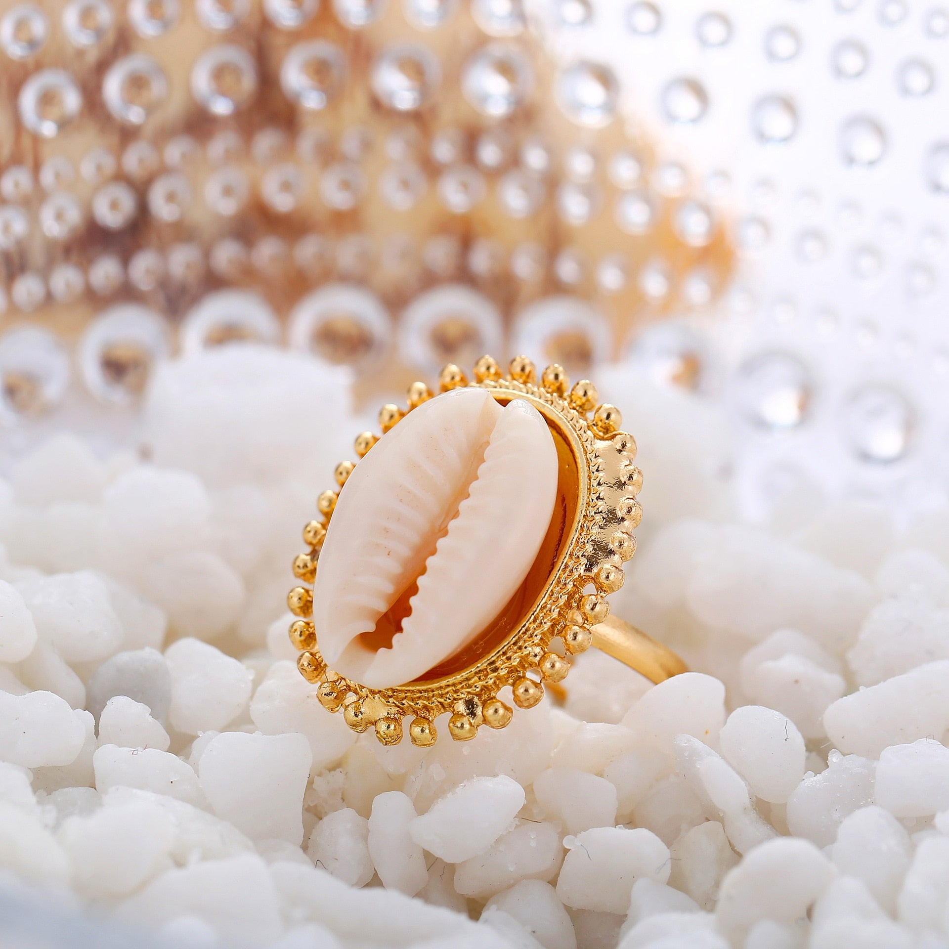 Bohemian Sea Shell Ring