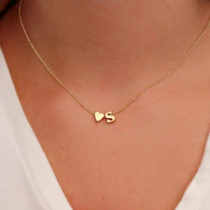 My Heart Initial Necklace