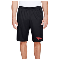 Men's Performance Shorts w/Pockets - Red Dragon Head Logo