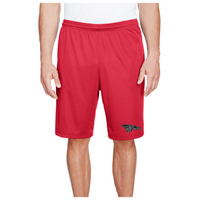 Men's Performance Shorts w/Pockets - Black Dragon Head Logo