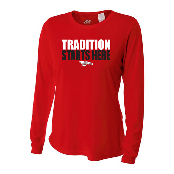 Womens Long Sleeve T-Shirt - Tradition Starts Here