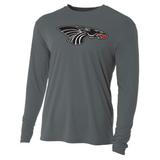 Mens Long Sleeve T-Shirt - Black Dragon Head Logo