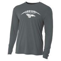 Mens Long Sleeve T-Shirt - White Football Laces