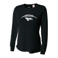 Womens Long Sleeve T-Shirt - Dragons Football Laces