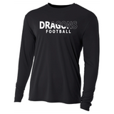 Mens Long Sleeve T-Shirt - White Dragons Football Slashed