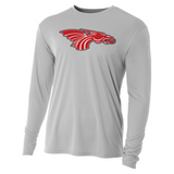 Mens Long Sleeve T-Shirt - Red Dragon Head Logo