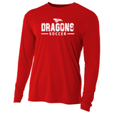 Mens Long Sleeve T-Shirt - Dragons Soccer
