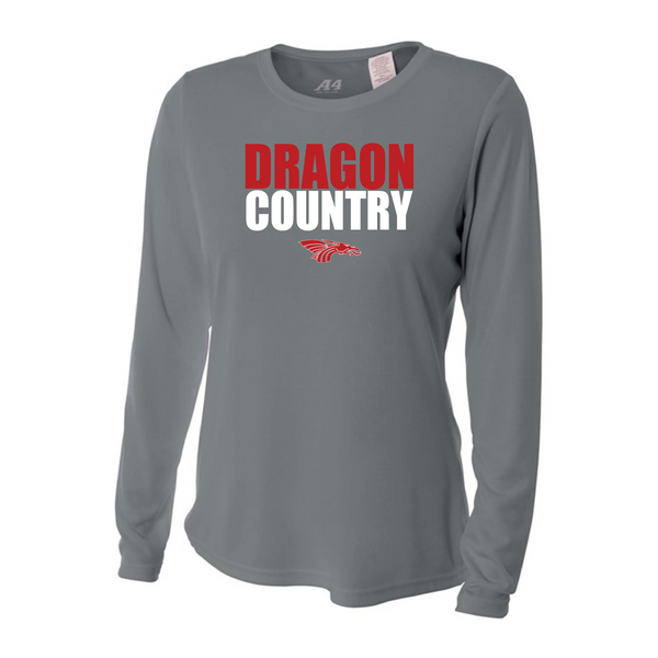 Womens Long Sleeve T-Shirt - Dragon Country