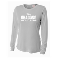 Womens Long Sleeve T-Shirt - Dragons Soccer