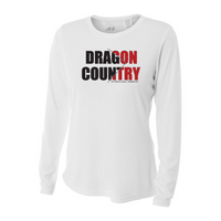 Womens Long Sleeve T-Shirt - Dragon Country Arrowed