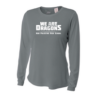 Womens Long Sleeve T-Shirt - We Are Dragons NPHS