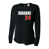 Womens Long Sleeve T-Shirt - Dragons ## (Custom)