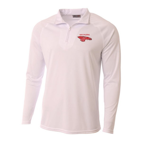 Mens Quarter Zip Pullover - New Palestine Dragons (red)