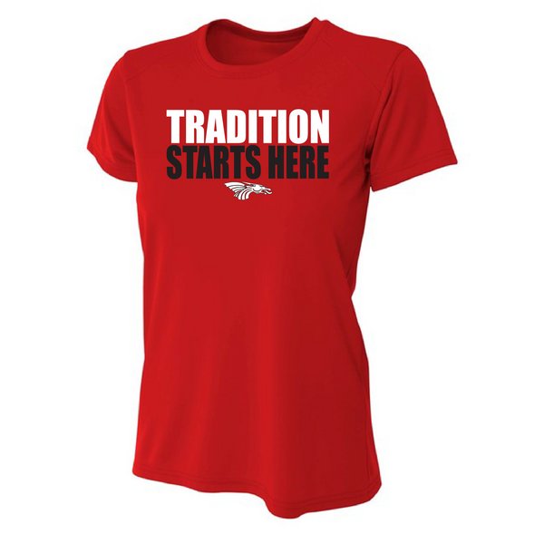 Womens Short Sleeve T-Shirt - Tradition Starts Here