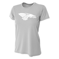 Womens Short Sleeve T-Shirt - White Dragon Head Logo